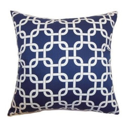 The Pillow Collection Qishn Geometric Pillow - Modern and geometric, The Pillow Collection Qishn Geometric Pillow has elegance and style to spare. The perfect decorative touch for your sofa or bed, this pillow comes in a variety of great color options. Its cotton cover and feather and down fill insert add luxury. Dry clean only.About The Pillow CollectionIdentical twin brothers Adam and Kyle started The Pillow Collection with a simple objective. They wanted to create an extensive selection of beautiful and affordable throw pillows. Their father is a renowned interior designer and they developed a deep appreciation of style from him. They hand select all fabrics to find the perfect cottons, linens, damasks, and silks in a variety of colors, patterns, and designs. Standard features include hidden full-length zippers and luxurious high polyester fiber or down blended inserts. At The Pillow Collection, they know that a throw pillow makes a room.