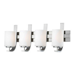 Thomas Lighting - Pendenza 4 Light Vanity - Thomas Lighting SL715478 Pendenza Brushed Nickel 4 Light Vanity