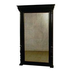 1900 Antique Henry II Black Wall Mirror - 1900 Antique Henry II Black Wall Mirror
