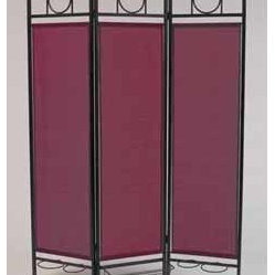 Sunsational Products - Contemporary Screen for Windows - Burgundy - Frame Color: Black - Divide and disguise with colorful, elegant privacy screen on patio, deck, balcony, porch or poolside, this decorator accent has unlimited possibilities.