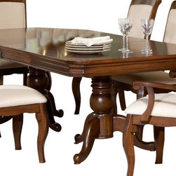 Liberty Furniture - Liberty Furniture Louis Philippe 96x44 Rectangular Double Pedestal Dining Table - Must-have versatility and enchanting style make this table a needful inclusion. With an adaptable build and eye-catching looks, this table is a simple solution to providing essential elements. Thanks to such a beautiful blend, this table makes an attractive addition. What's included: Table Top (1), Table Base (1).