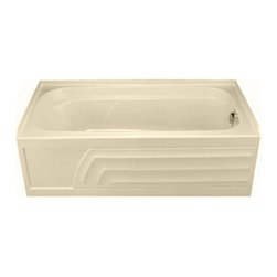 """American Standard - American Standard 1748.102.021 Colony Bath Tub, Bone - American Standard 1748.102.021 Colony Bath Tub, Bone. This bathtub features an acrylic construction with fiberglass reinforcement, an integral apron, an integral 3-sided tile/water retention flange, and dual molded-in armrests. It measures 66"""" by 32"""", it stands 19-1/2"""" from the ground, and features a right-hand outlet."""
