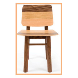 Tone Kids Chair - Solid American black walnut mixes with other woods to create this simple and sturdy child's chair. An updated version of the classic wooden school chair, this is bound to make a statement on its own in a playroom, or look great pulled up to a play table. Made from sustainable timbers.