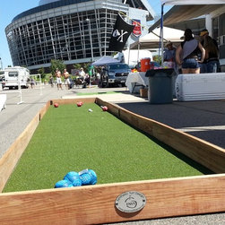 """Some new designs - Portable bocce court. Folds down into a 4'x8"""" space. Created for tailgates and good times"""