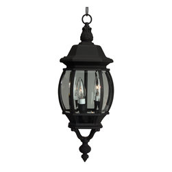 Exteriors - Exteriors Cast Aluminum French Style Traditional Outdoor Hanging Light X-50-133Z - This Craftmade cast aluminum French Style traditional outdoor hanging light is sure to enhance the look of any space. It has a uniquely designed frame in a durable powder coat finish finish that holds a spherical, clear beveled glass shade. It's s a shapely and attractive three-light fixture that's sure to light your home with a warm and soothing light.