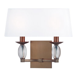 Hudson Valley - 4612-BB Cameron Bath Vanity Light, Brushed Bronze, Clear Oblong crystal - Modern Contempo Bath Vanity Light in Brushed Bronze with Clear Oblong crystal from the Cameron Collection by Hudson Valley.