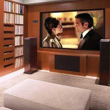 Contemporary Home Theater by Billinkoff Architecture PLLC