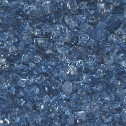 American Fireglass Arctic Blue | 1/4-in Fire Glass | 10 lbs - AFF-ARBL-10 - American Fireglass 10 lbs 1/4 Accent Gems - Arctic Blue Crystal Brilliance 1/4-in Arctic Blue Fireglass is available in our Classic Collection. It is a beautiful addition to a fireplace with a white back wall which allows the deep royal blue color to stand out against the lighter colored wall. Arctic blue also looks amazing in an outdoor fire pit near a pool with a dark colored floor. If you want to add a little uniqueness to the look of your fireglass we recommend mixing Arctic Blue with a lighter colored fireglass such as Starfire or Platinum.