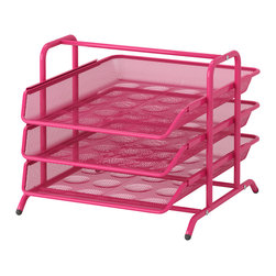 Dokument Letter Tray, Pink - Keep paperwork at bay with this old-school letter tray in new-school colors.
