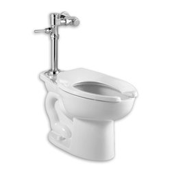 American Standard - American Standard Madera 1.6 GPF Toilet with Exposed Manual Flush Valve System - American Standard 2858.016.020 Madera 1.6 gpf Toilet with Exposed Manual Flush Valve System, White