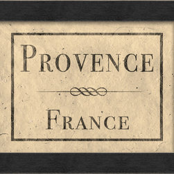 "The Artwork Factory - ""Provence France"" Print - Fetch a little framed French flair for your walls. This museum quality print beckons like a sunwashed field of lavender and adds continental charisma in your bedroom, kitchen or anywhere you'd like a French kiss."