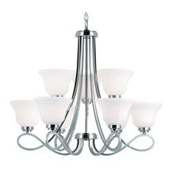 Trans Globe Lighting - 9559-1 BN 9 Light ChandelierTransitional Indoor Collection - 9 Light Chandelier