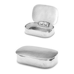 """Match Pewter - Simple Covered Box by Match Pewter - Using methods that predate the Renaissance, Match artisans fashion pewter into functional objects of warmth and beauty.4.7"""" Wide"""