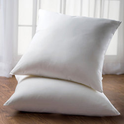 Eddie Bauer - Eddie Bauer Luxury Euro 230-count Sham Stuffers (Set of 2) - Your master suite deserves a pillow that showcases your bed and are soft and supple for comfort. This twin pack of euro sized sham stuffers feature a hypoallergenic blend of goose down and white goose feathers.