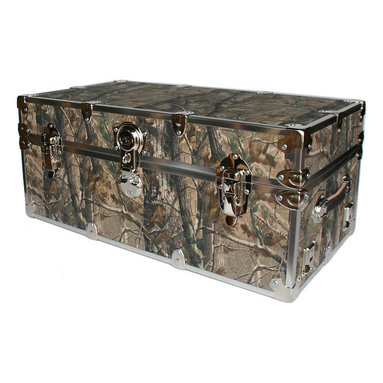 Artisans Domestic - Storage Trunk Chest in Camo - Include small ventilation holes and specially designed American made two soft-close lid supports. Superior quality, heavy-duty toy trunk. Handcrafted and kid friendly. Designed for a child's well-being. Lined with cabinet grade birch. Heavy gauge steel trim and corner pieces. Leather strap handles for moving easily. Hasp for padlock. Waterproof, dent resistant and scratch resistant. Made from 1000 denier cordura sheathing, baltic birch and Laminate. Made in USA. 44 in. L x 24 in. W x 22 in. H (69 lbs.)Safety First! yet looks handsome in any room. This treasure chest incorporates several safety features. They are even strong enough to stand on! Now that's a great toy box!