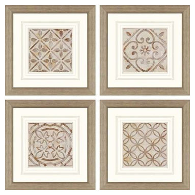 Paragon Art - Paragon Moroccan Tiles ,Set of 4 - Artwork - Moroccan Tiles ,Set of 4       ,  Paragon Artist is Smith , Paragon has some of the finest designers in the home accessory industry. From industry veterans with an intimate knowledge of design, to new talent with an eye for the cutting edge, Paragon is poised to elevate wall decor to a new level of style.