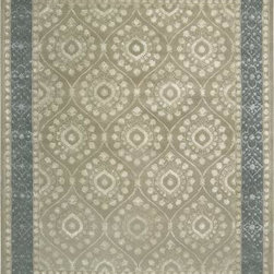 "Nourison - Nourison Symphony SYM07 3'6"" x 5'6"" Taupe Rug - Extra dense-pile premium wool area rugs feature light shimmering art silk that makes up their traditional designs and borders. An elegant focal point in any setting, these high quality rugs are a symphony for the senses; pleasing to the eyes, with a truly luxurious feel to the touch."