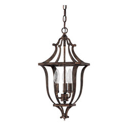 Capital Lighting Fixture Company - Corday Rustic Three-Light Foyer Fixture - Corday Rustic Three-Light Foyer Fixture Capital Lighting Fixture Company - 9181RT
