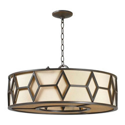 World Imports - Decatur 5-Light Iron Pendant, Rust - Uses 5 medium bulbs, 60 watts (not included)