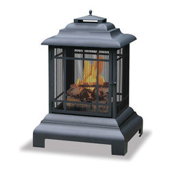 Uniflame - Uniflame WAF501CS Large Black Firehouse - Belmont - Large Black Firehouse Belmont belongs to Outdoor Living Collection by Uniflame