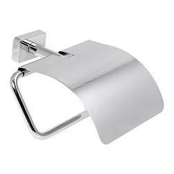 Gedy - Chrome Toilet Roll Holder With Cover - Classic toilet roll holder/toilet paper holder with cover.