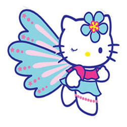 York Wallcoverings - 10pc Hello Kitty Butterfly Large Wall Accent Stickers Set - FEATURES: