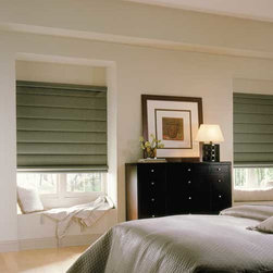 Comfortex - Comfortex Envision Roman Shades: Bora Bora Light Filtering - Bora Bora fabric features texturing inspired by tropical grasses.  Bring sophisticated warmth and style to your windows with the beauty of Comfortex Envision Roman Shades.