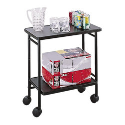 Safco - Folding Office/Serving Cart - 8965BL - Shop for Carts and Stands from Hayneedle.com! The Folding Office/Serving Cart provides the ideal way to offer quick and convenient refreshment service. It features sturdy steel construction with an easy-to-clean powder-coat finish. Refreshments can be offered on top while additional supplies can be stored on the lower shelf. Smooth-rolling locking casters make for easy transport. This cart also folds up for easy storage when not in use. Ideal for offices conference rooms board meetings or even family gatherings.About Safco ProductsSafco products were specifically developed to meet the changing needs of the business world offering real design without great expense. Each product is designed to fit the needs of individuals and the way they work by enhancing comfort and meeting the modern needs of organization in the workplace. These products encourage work-area efficiency and ultimately work-life efficiency: from schools and universities to hospitals and clinics from small offices and businesses to corporations and large institutions airports restaurants and malls. Safco continues to offer new colors new styles and new solutions according to market trends and the ever-changing needs of business life.