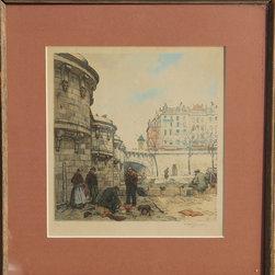 Tavik Frantisek Simon, Color Etching - Artist:  Tavik Frantisek Simon, Czech (1877 - 1942)