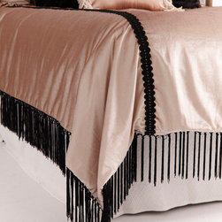 Velvet and Lace Reversible Duvet Cover - Mon Cheri with Gorgeous Shams and Accen - REVERSIBLE BEDDING with TWO LUXURIOUS LOOKS!