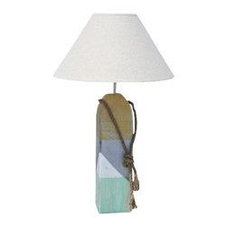 Buoy Lamp- Yellow/White/Aqua - Shop Decorative Nautical Buoy Lamps at Coastal Style Gifts!