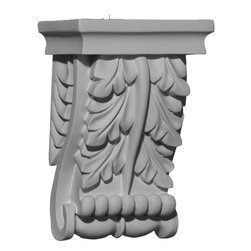 """Ekena Millwork - 4 5/8""""W x 2 3/4""""D x 6 3/4""""H Legacy Corbel - 4 5/8""""W x 2 3/4""""D x 6 3/4""""H Legacy Corbel. These corbels are truly unique in design and function. Primarily used in decorative applications urethane corbels can make a dramatic difference in kitchens, bathrooms, entryways, fireplace surrounds, and more. This material is also perfect for exterior applications. It will not rot or crack, and is impervious to insect manifestations. It comes to you factory primed and ready for your paint, faux finish, gel stain, marbleizing and more. With these corbels, you are only limited by your imagination."""