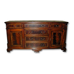 EuroLux Home - New Office Sideboard Banded Inlay File - Product Details