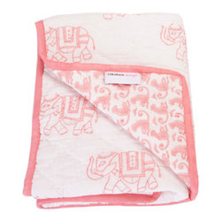 Rikshaw Design Taj Pink Baby Blanket - This blanket is absolutely beautiful. The soft pink and sweet elephants would go great with almost any room decor, and it is so sweet to wrap a newborn in.