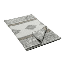 Happy Blanket - Boiled Wool Toile Throw, Blanket, Grey - Wool is a natural temperature regulator, naturally hypoallergenic, naturally breathable and even improves sleep quality.
