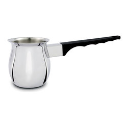 Cuisinox - Cuisinox Turkish Coffee Pot 26 oz - This Turkish coffee pot is perfect for home or professional use. You can use this handy pot for frothing milk as well. It has a wide pouring lip to avoid spills.