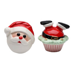 Apple Tree - Holiday Theme Santa in Cup Cake and Santa Face Salt and Pepper Shakers - This gorgeous Holiday Theme Santa in Cup Cake and Santa Face Salt and Pepper Shakers has the finest details and highest quality you will find anywhere! Holiday Theme Santa in Cup Cake and Santa Face Salt and Pepper Shakers is truly remarkable.