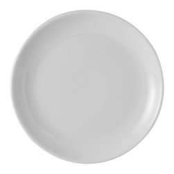Tuxton - TuxCare 9 x 7/8 inch Healthcare Plate Coupe Porcelain White - Case of 12 - Our plates and dishes are designed to combine with insulated domes bases and other innovative food systems for extended heat retention.