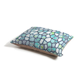 Ingrid Padilla Blue Cells Dog Bed - Perfect for dogs, cats,heck, even a pig! With our cozy pet bed made of a fleece top and waterproof duck bottom, you're bound to have one happy animal catching some zzzz's in ultimate comfort.