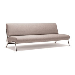 Innovation USA - Innovation USA Debonair Sofa With Chrome Legs, Mixed Dance Grey - Designed for your living room, guest room, studio or one room apartment.
