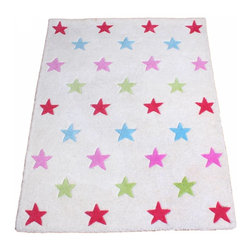 Babyface - Girl's Star Rugh - •Hand tufted from luxurious 100% wool