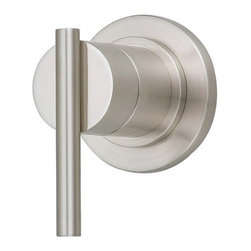 "Danze - Danze D560958BNT Brushed Nickel Parma Volume Control Valve Trim with - Product Features:Trim plate and handles feature all-brass constructionFully covered under Danze's limited lifetime faucet warrantyHigh-quality finishing process – finish covered under lifetime warrantyBathroom trims from Danze are engineered to function flawlessly and feature enduring designsVolume control valve cartridge – controls volume only, to be coupled with thermostatic cartridgeADA compliant handleUltra-secure mounting assemblyAll hardware required for trim installation is includedRough-in valve is sold separately (when checking out valve options will be presented)Product Technologies and Benefits:Universal Valves:This feature takes any guess work completely out of the picture when looking to remodel the shower. Every valve from Danze will work with any faucet trims, making it easy and user friendly for you to build the shower system of your dreams.Product Specifications:A swinging temperature dial allows for pin-point volume and temperature controlEscutcheon (Cover Plate) Dimensions: 3-1/8"" W X 3-1/8"" HRough-in valve is sold separately (when checking out valve options will be presented)Designed to easily install with standard U.S. plumbing connections"