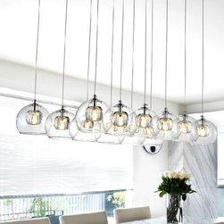 Modern Multi-Heads Crystal Orb Pendant Lighting - Modern Multi-Heads Crystal Orb Pendant Lighting