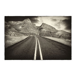 """FM 170"" Artwork - The market road between Presidio and Terlingua in Texas. Also known as The River Road as it runs along the Rio Grande. Arguably the most scenic road in Texas"