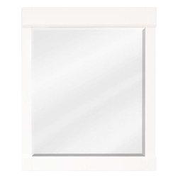 Jeffrey Alexander - Jeffrey Alexander Astoria Modern Mirror Cream Frame 28 x 1-3/8 x 34 Inch - 28 Inch x 34 Inch Cream White mirror with beveled glass Finished in Cream White (finish applied by hand)  Coordinating Vanities: VAN091 24 VAN091 24 T VAN091 30 VAN091 30 T VAN091 36 VAN091 36 T VAN091 48 T VAN091 48 T