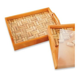 Wine Enthusiast - Wine Enthusiast Wine Cork Tray Kit - Put all those saved corks from your favorite wines to good, stylish use. This wine tray kit is a fun and fabulous way to create an original wine tray from your favorite vintages.