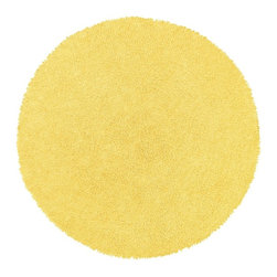 St Croix Trading - Shag Shagadelic Round 5' Round Yellow Area Rug - The Shagadelic area rug Collection offers an affordable assortment of Shag stylings. Shagadelic features a blend of natural Yellow color. Handmade of Chenille the Shagadelic Collection is an intriguing compliment to any decor.