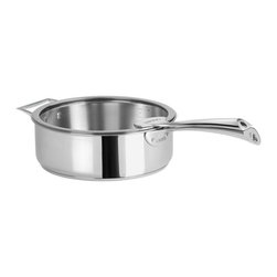 Cristel - Cristel Casteline Fix Multiply 5-Ply Stainless Saute Pan With Glass Lid, 4.75 qt - The base is made out of an alloy of stainless steel and aluminum. The heat is simultaneously spread over the whole surface of the base and sides. For gentle, economic cooking with no risk of sticking and protecting all the nutritional qualities of food. Multicooking: suitable for all cooking cooktops; can also be placed on the oven (with or without the lid). 18/10 polished finish. Water or fat are not needed for cooking. Keeps temperature during table service. Wide and efficient Pouring edge. Dishwasher safe.. Made in France.
