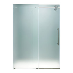 """VIGO Industries - VIGO 72-inch Frameless Shower Door 3/8"""" Hardware, Frosted/Chrome, Right - This VIGO frosted shower door gives you a privacy level that enhances your shower experience."""