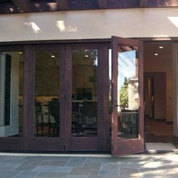 Custom wood Bi-folding units - Exterior View Bi-folding doors